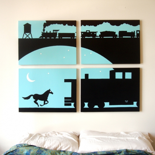 Animal Silhouette Paintings