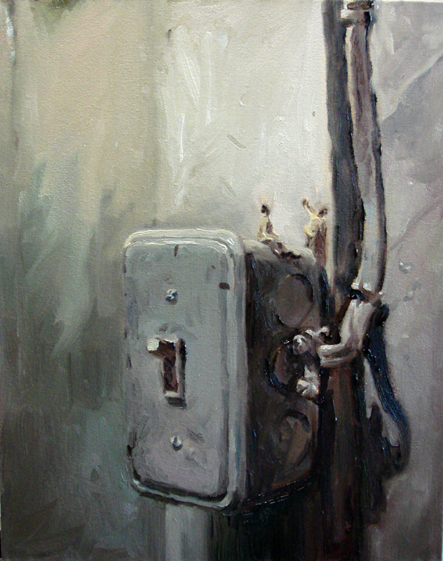 Light Switch original oil painting by Ricky Colson