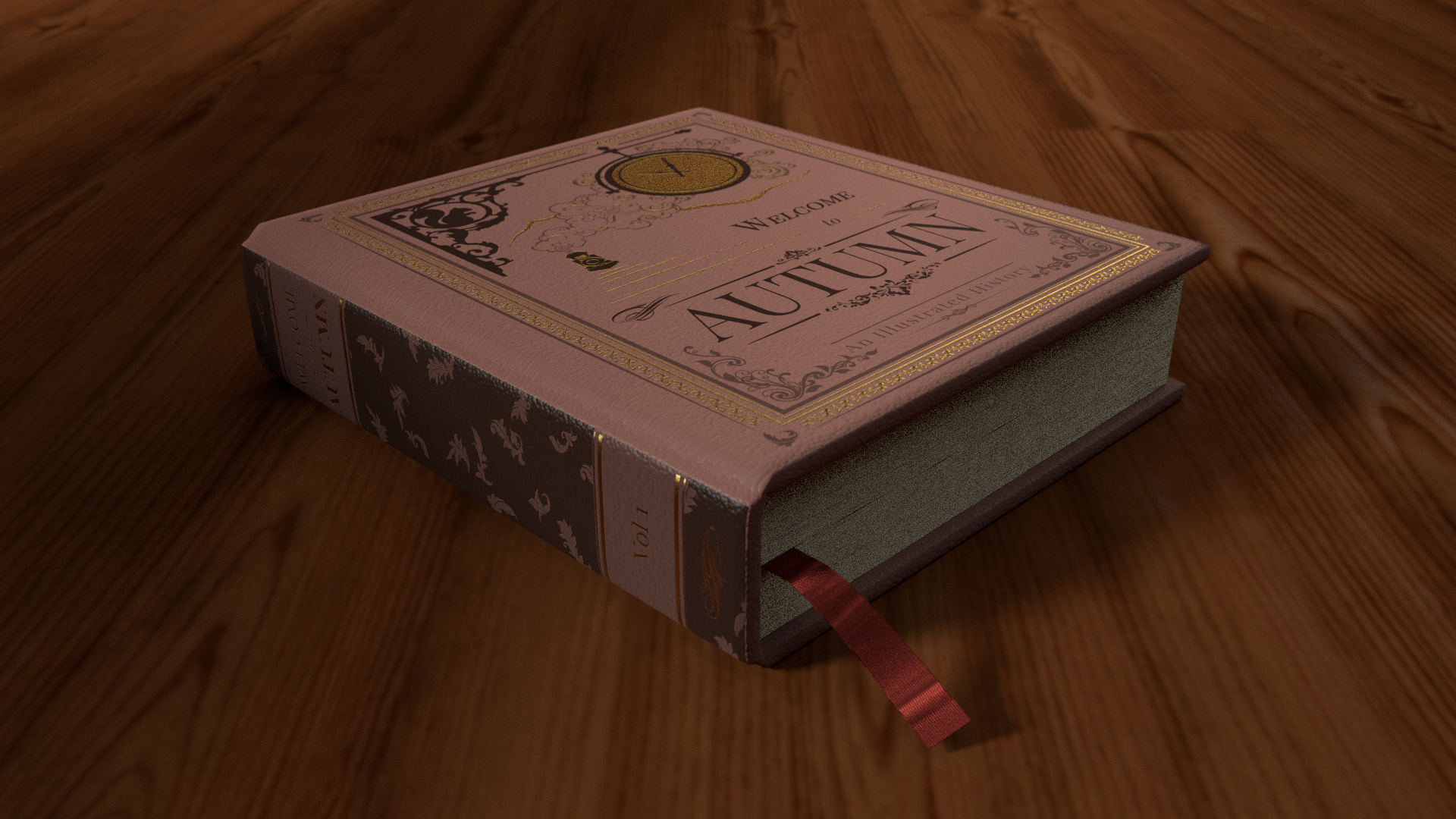 Welcome to Autumn history book 3d model render