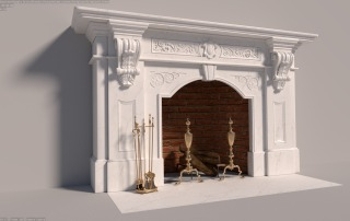 victorian-marble-wood-fireplace-andirons