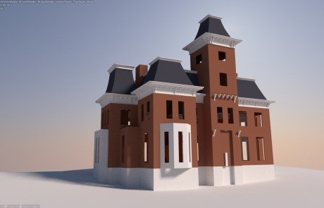 second-empire-house-unfinished-model