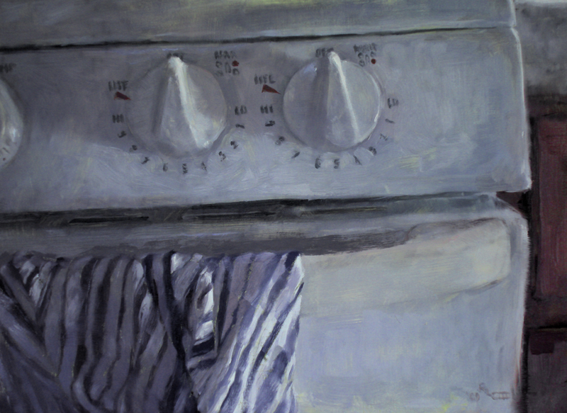 Oven - realistic original oil art painting by Ricky Colson